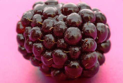 Photo of blackberry close up.