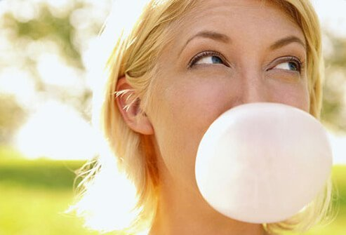 Chewing tells your body to make saliva, which balances the acid tied to the problem.