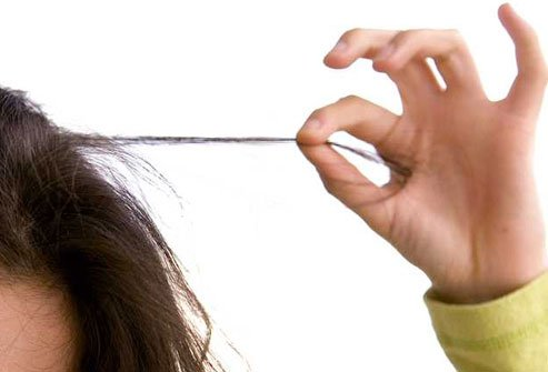People who suffer from trichotillomania pull out their own hair.