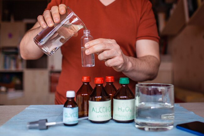 Store bought brands are best, but if hand sanitizer is hard to find, you can make your own.
