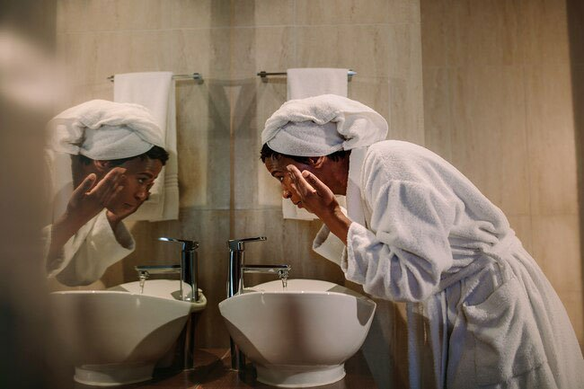 Wash your face following the Goldilocks rule: not too hot, not too cold, but just right.