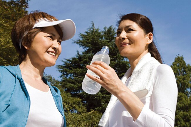 Water, fruit juices, milk, and fruits and vegetables can help you stay hydrated.