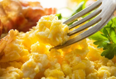 Egg yolks are loaded with choline, which helps memory development.