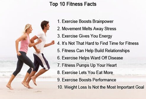 These are the top 10 fitness facts.