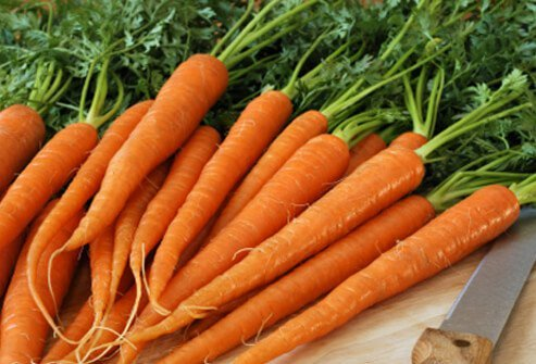 Carrots are an excellent source of vitamin A, which promotes a healthy scalp along with good vision.