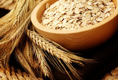 Whole grain oats provide a hair-healthy dose of zinc, iron, and B vitamins.