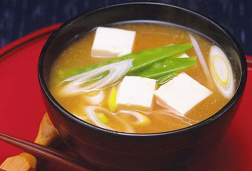 Miso soup is probiotic-rich Japanese staple.