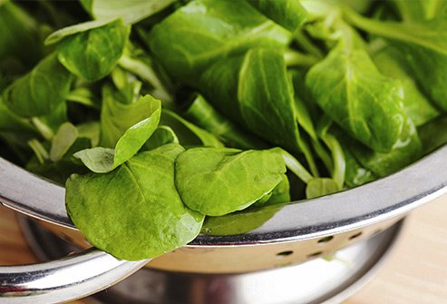 If you're looking for a tasty side dish, spinach, kale, and collards can give you an iron boost.