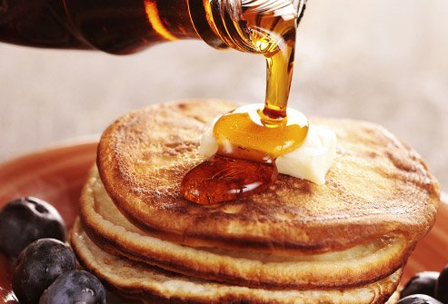 You can give yourself an extra helping when you use molasses on your pancakes.