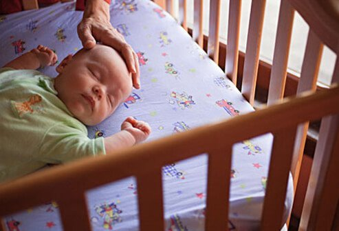 Rock a baby to sleep every night, and he can't learn to fall asleep on his own.