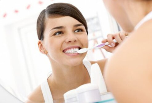 Tooth brushing moves germs around your mouth and beneath the skin of your mouth.