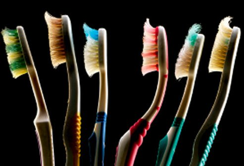 Replace your toothbrush every three to four months.