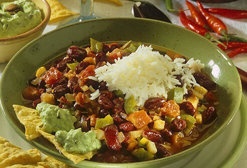 Chili is a good addition to a vegetarian protein diet.