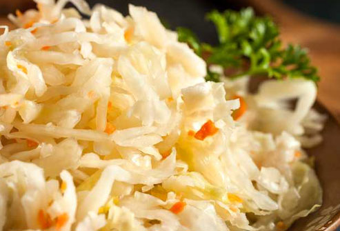 Sauerkraut is full of gut-friendly probiotic bacteria.