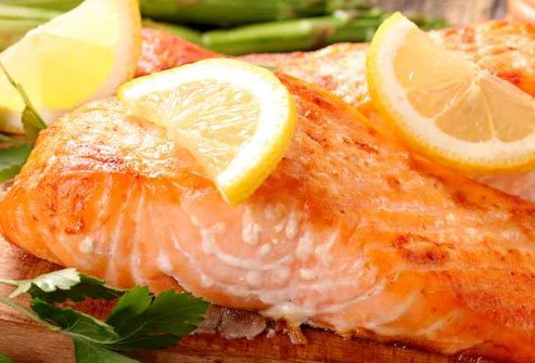 Fatty fish, walnuts, and canola oil supply essential omega-3 fatty acids.