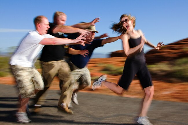 Being chased during a zombie run is a different way to get physical activity.
