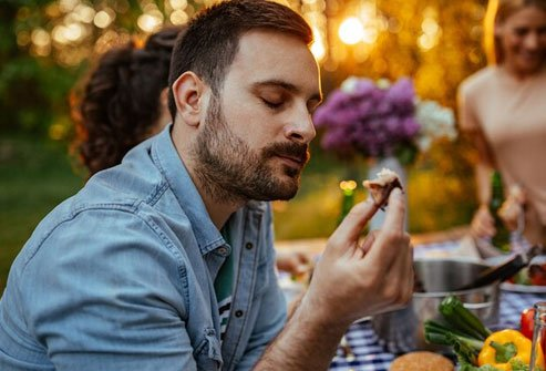 Taste and smell return to normal 48 hours after you stop smoking.