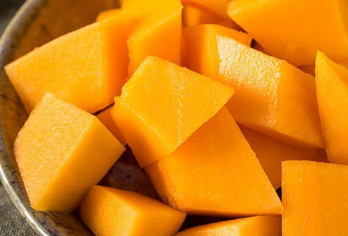 Cantaloupe is a low-sugar fruit that contains 5 grams of sugar per medium-size wedge.
