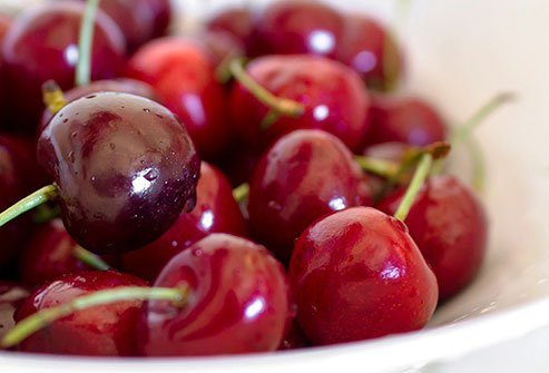 In the fruit sugar content ranking, cherries would be on the higher end of the list.