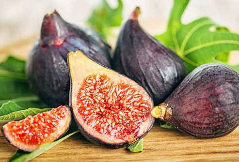 Figs are on the higher end of the fruit sugar content list.