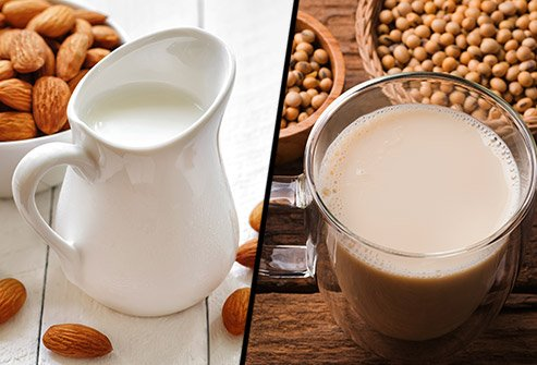 Does almond milk or soy milk have more saturated fat?