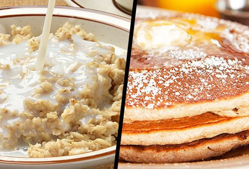 Instant Oatmeal or Pancakes