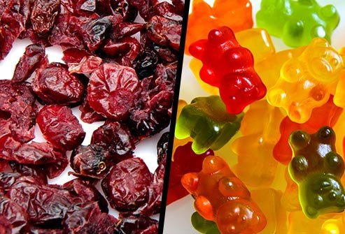 Dried Cranberries or Gummy Bears?
