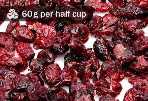 This dried fruit has 50 percent more sugar than the same amount of gummy bears.