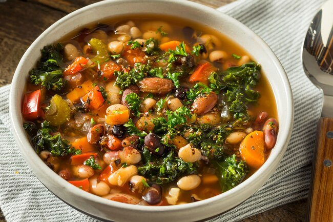 Beans are a great source of fiber. Fiber helps keep you regular and protects against some diseases.
