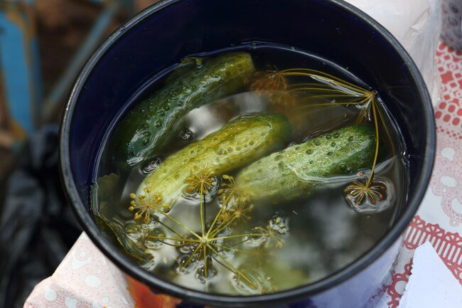 You can make your own pickles at home by putting cucumbers in salt water solution until they ferment.