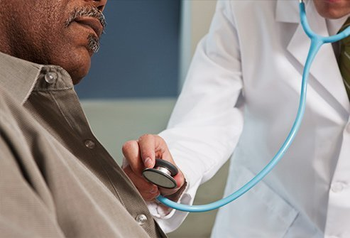 Your doctor listens to your lungs, neck, and heart with a stethoscope during your typical exam.