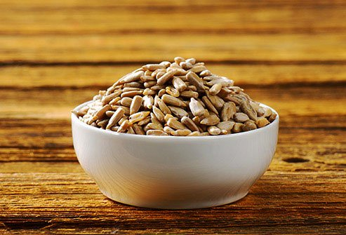 Sunflower seeds are a good source of potassium and other vitamins and nutrients.