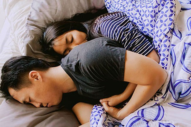 Sleeping on your back can make you snore or make it worse.