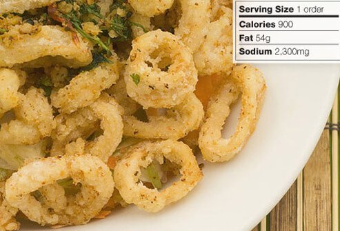 Photo of fried calamari.
