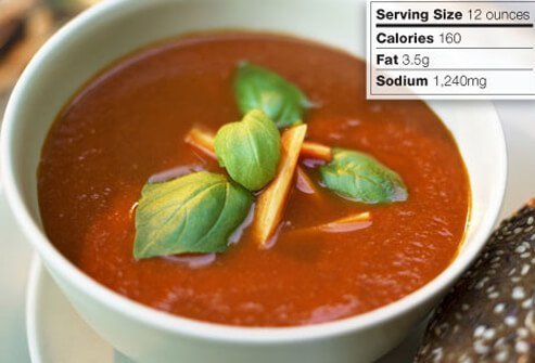 Photo of tomato soup.