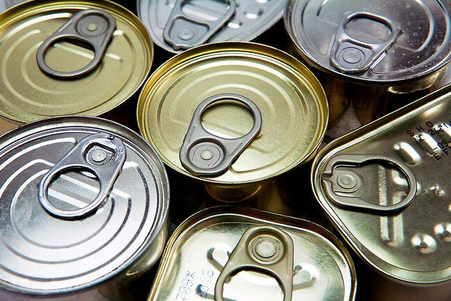 Prepackaged foods -- things like soup, tomato sauce, and canned goods -- often have high amounts of sodium, up to 75% of the suggested amount.