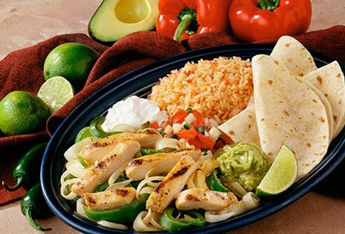 Photo of chicken fajitas.