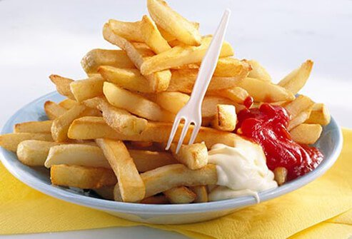 Photo of large fries.