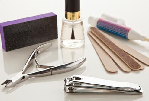 You can take your own tools to a nail salon, even if you feel self-conscious.